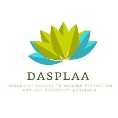 Disability Access to Suicide Prevention and Life Advocacy Australia (DASPLAA) logo