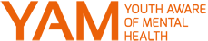 Youth Aware of Mental Health (YAM) logo
