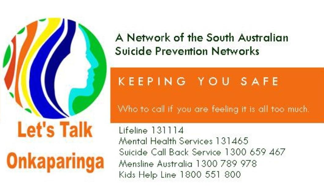 Let's Talk Onkaparinga SPN logo